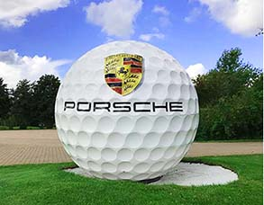 Golfball, Vollkugel, Großer Golfball, Riesenkugel, Promotion, Event
